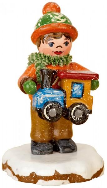Winterkind Paulchens Weihnachtswunsch von Hubrig Volkskunst GmbH Zschorlau/ Erzgebirge ist 8 cm groß.
