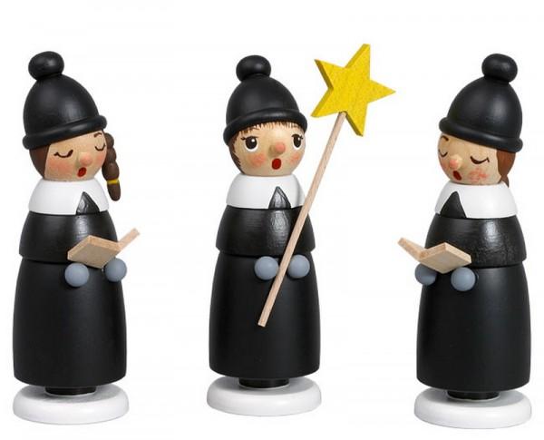 Weihnachtsfiguren Kurrende, 3 - teilig, 10 cm, Robbi Weber Seiffen/ Erzgebirge