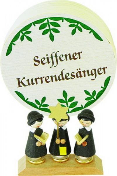 Weihnachtsfiguren Spanschachtel Kurrende, 7,5 cm, Richard Glässer GmbH Seiffen/ Erzgebirge
