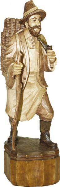Waldmann mit Pfeife, gebeizt, geschnitzt, in verschiedenen Größen