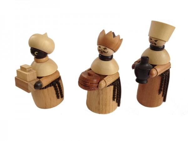 Weihnachtsfiguren Heilige 3 Könige, 3 - teilig, 6 cm, Spielwarenmacher Günther Seiffen/ Erzgebirge