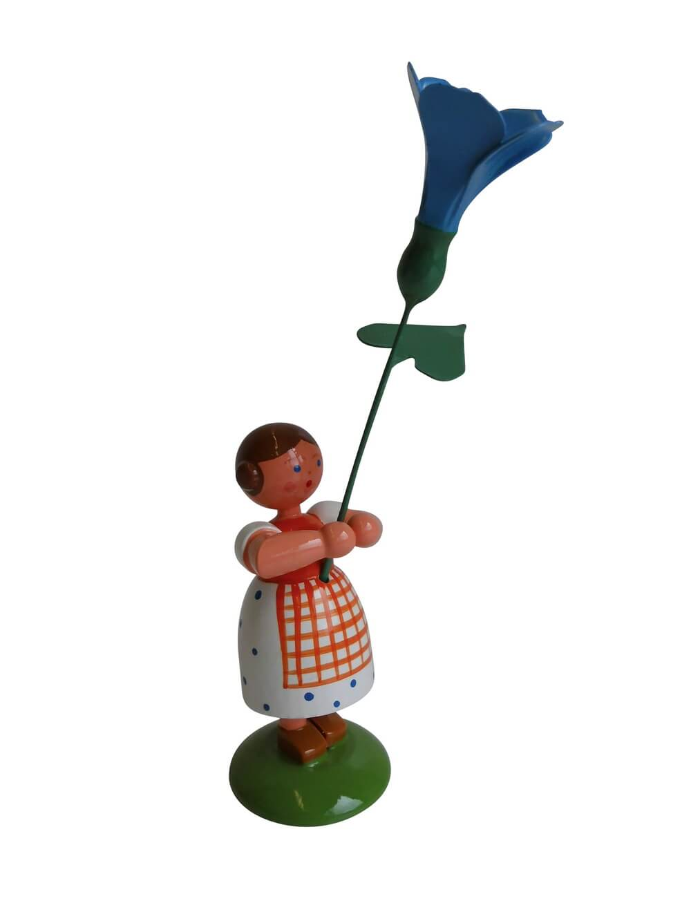 Blumenkinder - Sommerblumenkind Mädchen mit blauer Prunkwinde, 12 cm von WEHA-Kunst Dippoldiswalde/ Erzgebirge