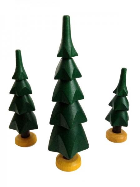 Bäume, 3 Stück, grün von Spielwarenmacher Günther