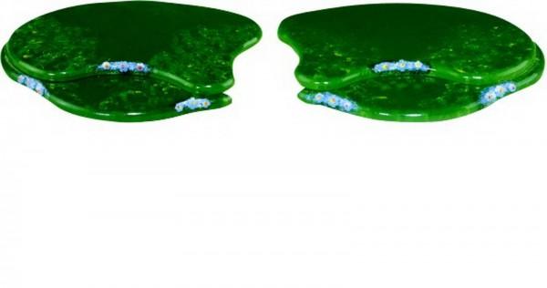 zweier Anbauset Sommerwiese in grün und aus Holz von Hubrig