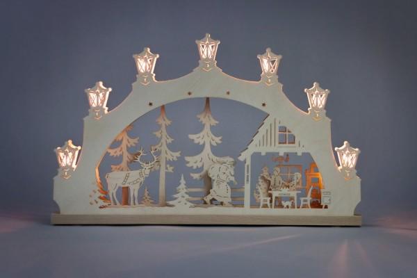 Schwibbogen Weihnachtsabend von Weigla