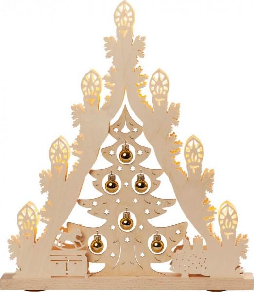 Weigla LED Lichterspitze Weihnachtsbaum mit goldenen Kugeln