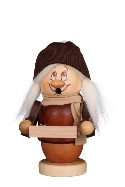 Räuchermännchen von Christian Ulbricht Miniwichtel Striezelmädel, 13 cm aus Holz