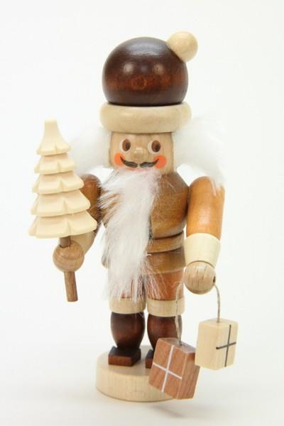 Nussknacker Mini Weihnachtsmann, natur, 10 cm, Christian Ulbricht GmbH & Co KG Seiffen/ Erzgebirge