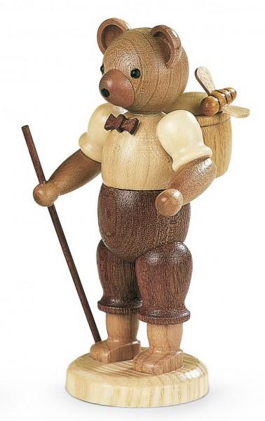 Dekofigur Bärenmann aus Holz, naturfarben von Müller Kleinkunst aus Seiffen