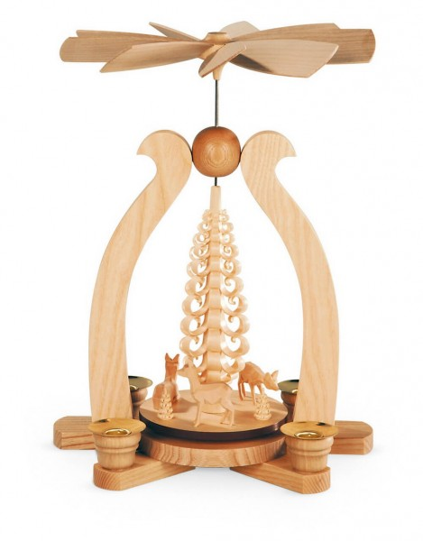 weihnachtliche Bogenpyramide Rehe aus dem Hause Müller Kleinkunst aus Seiffen