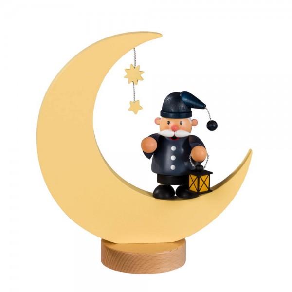 Räuchermännchen von KWO mit dem Motiv des Mann im Mond, 23 cm