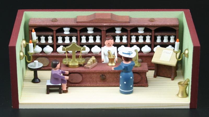 miniaturst bchen apotheke mit apothekerin online kaufen. Black Bedroom Furniture Sets. Home Design Ideas