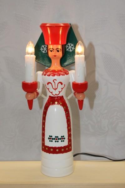 Weihnachtsengel, bunt, elektrisch beleuchtet und eigenem Trafo, 26 cm von Nestler-Seiffen.com OHG Seiffen/ Erzgebirge