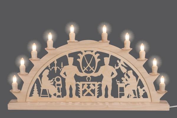 Schwibbogen Schwarzenberger, elektrisch beleuchtet, 60 x 29 cm, 10 Kerzen, Nestler-Seiffen