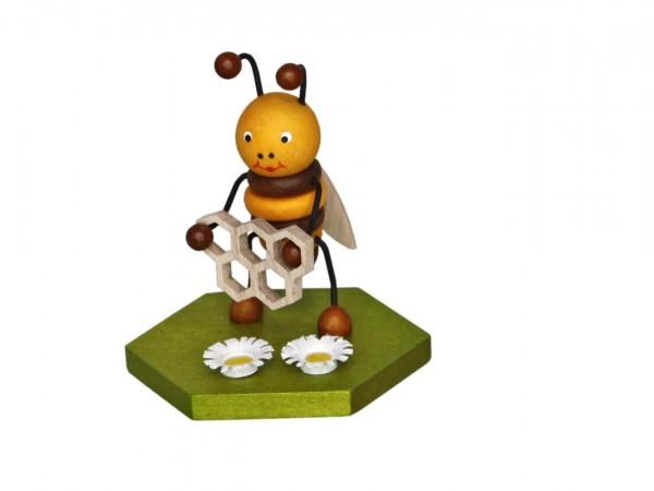 Biene mit Honigwabe, 8 cm von Volker Zenker aus Seiffen