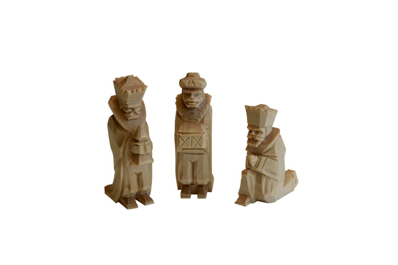 Heilige 3 Könige von Nestler-Seiffen, geschnitzt aus Lindenholz_Bild1