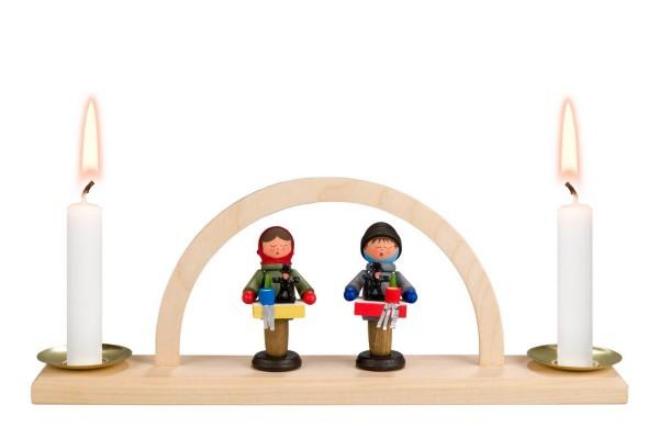 Minischwibbogen von Nestler-Seiffen Striezelkinder für Wachskerzen _Bild1