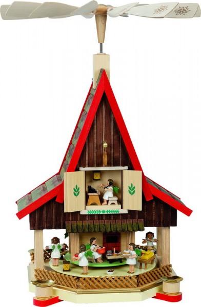 Weihnachtspyramide Adventshaus Engelbäckerei, 53 cm, Richard Glässer GmbH Seiffen/ Erzgebirge