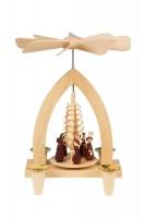 Vorschau: Weihnachtspyramide mit Kurrende, 26 cm hergestellt von Heinz Lorenz Olbernhau/ Erzgebirge_Bild1