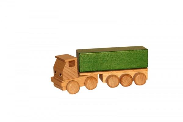 Sattelschlepper mit Pritsche, farbig, 14 cm, Spielalter ab 3 Jahre, Erzgebirgische Holzspielwaren Ebert GmbH Olbernhau/ Erzgebirge