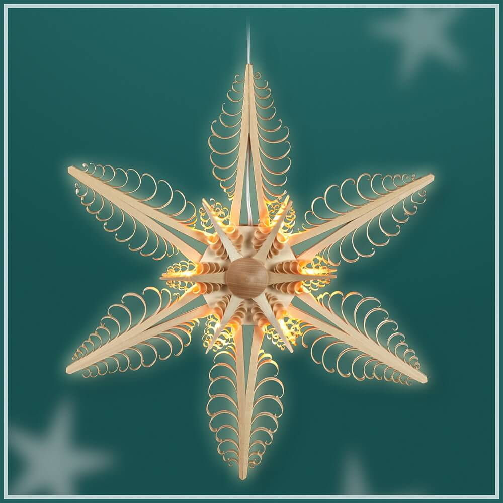 Martina Rudolph Stern, Durchmesser 32 cm, elektrisch beleuchtet