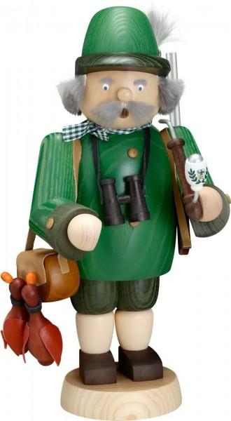Waidmannsheil, begrüßt uns der Räuchermann Jäger , 30 cm von Seiffener Volkskunst eG Seiffen/ Erzgebirge.Waidmannsheil, ist ein Gruß, den man gemäß …