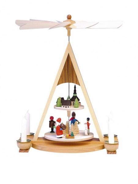 Knuth Neuber, Weihnachtspyramide Weihnachtsmann, Seiffener Dorf