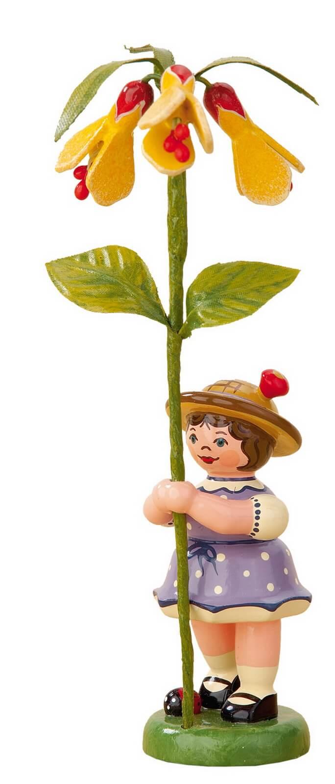 Mädchen mit Schönmalve aus der Serie Hubrig Blumenkinder