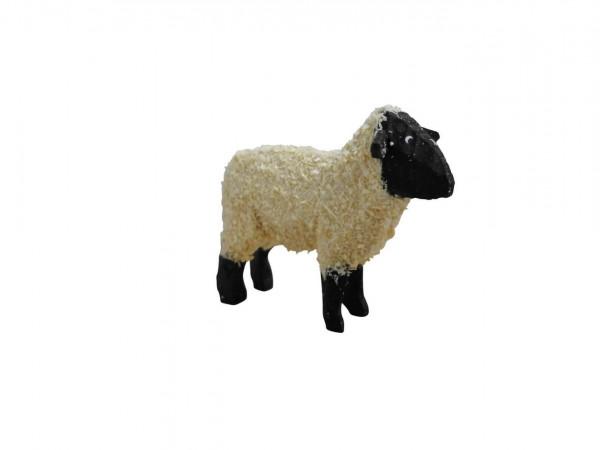 Dekoelement Schaf, stehend, schwarz, 3 cm von Nestler-Seiffen