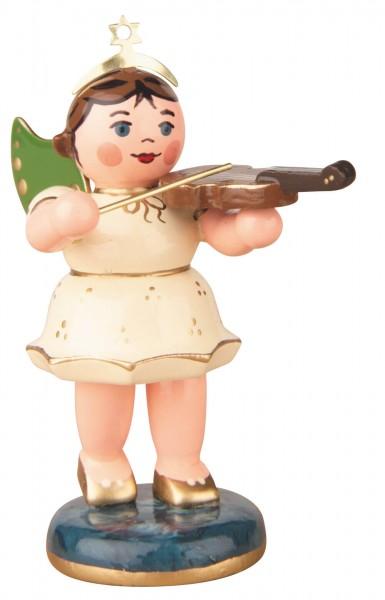 Hubrig Volkskunst Weihnachtsengel mit Geige aus Holz