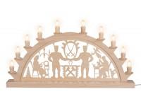 Vorschau: LED Schwibbogen von Nestler-Seiffen mit Schwarzenberger Motiv und 10 Spitzkerzen _Bild1