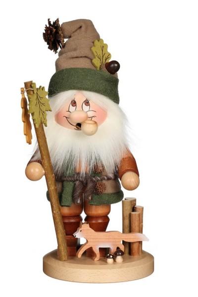 Räuchermännchen Wichtel mit Fuchs mit der typischen Knubbelnase und dem freundlichen Gesicht von Christian Ulbricht GmbH & Co KG Seiffen/ Erzgebirge …