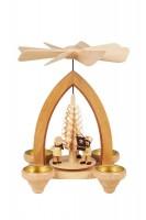 Vorschau: Weihnachtspyramide Bergmannszug für Teelichter, 26 cm hergestellt von Heinz Lorenz Olbernhau/ Erzgebirge_Bild1