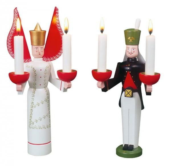 Bergmann und Engel mit getupftem Kleid von Eckert