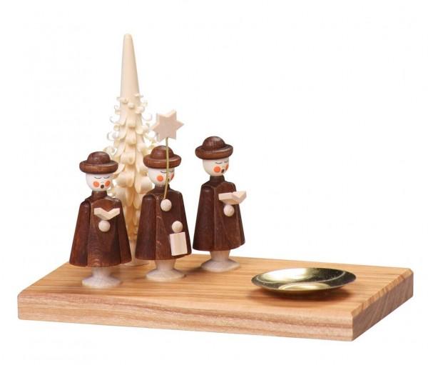 Kerzenhalter Kurrende für Wachskerzen, 10 cm von Thomas Preißler Seiffen/ Erzgebirge Größe: ca. 10 cm Material: heimische Hölzer, hochwertige Farben und Lacke