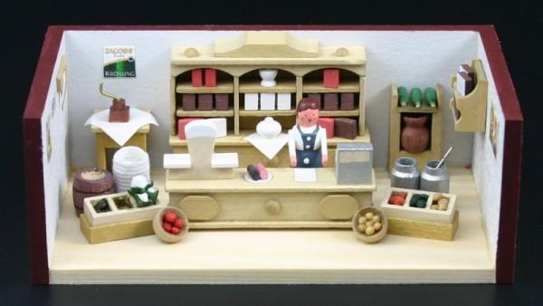 Miniaturstübchen Tante-Emma-Laden von Gunter Flath aus Seiffen / Erzgebirge Detailgetreue Nachbildung eines Tante-Emmas-Ladens aus früheren Zeiten. Dort gab …