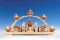 Vorschau: Knuth Neuber, Schwibbogen Frauenkirche Dresden für Teelichter_Bild2