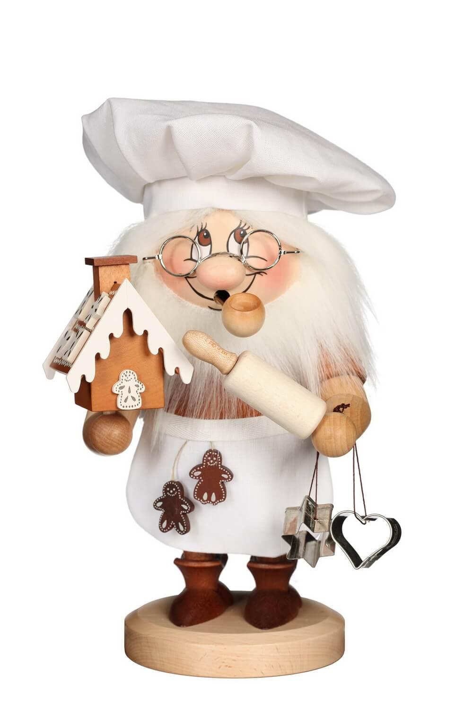 Räuchermännchen Wichtel Zuckerbäcker mit der typischen Knubbelnase und dem freundlichen Gesicht von Christian Ulbricht GmbH & Co KG Seiffen/ Erzgebirge …