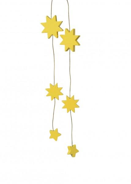 KWO Christbaumschmuck Sterne in gelb für den Weihnachtsbaum
