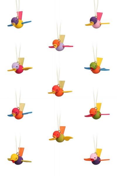 Flugvögel zum hängen, 12 Stück, 3 cm von Christian Ulbricht GmbH & Co KG Seiffen/ Erzgebirge