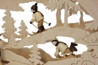 Vorschau: Schwibbogen von Romy Thiel mit dem Motiv Winterlandschaft, 63 cm _Bild6