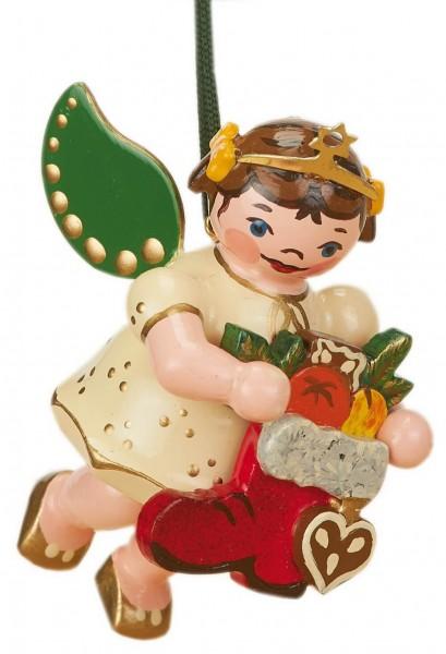 Christbaumschmuck Weihnachtsengel mit Nikolausstiefel von Hubrig Volkskunst