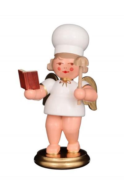 Weihnachtsengel - Bäckerengel mit Backbuch, 8 cm von Christian Ulbricht GmbH & Co KG Seiffen/ Erzgebirge
