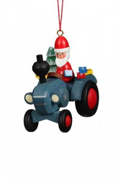 christbaumschmuck traktor mit weihnachtsmann 6 st ck