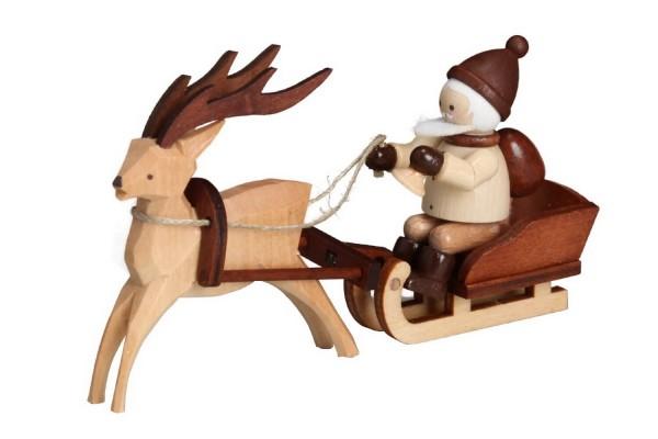 Magie liegt in der Luft! Denn schaut wer jetzt kommt.... der Nikolaus mit Rentierschlitten, mini in natur von Romy Thiel Deutschneudorf/ Erzgebirge. Was er …