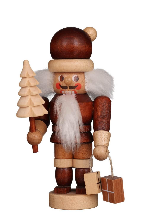 Mini Nussknacker Weihnachtsmann natur, 11 cm von Christian UlbrichtGmbH & Co KG Seiffen/ Erzgebirge