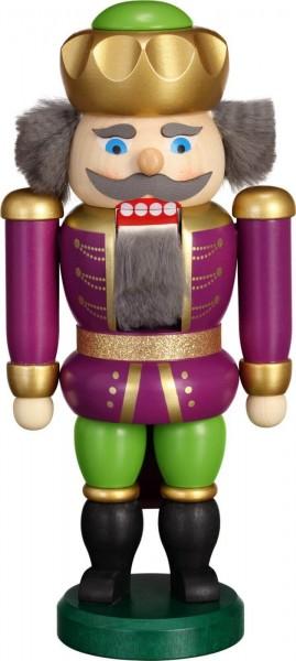 Hier erscheint Ihre Majestät der Nussknacker Exklusiv König in purpur - grün, von der Seiffener Volkskunst eG Seiffen/ Erzgebirge. Dienten früher die …
