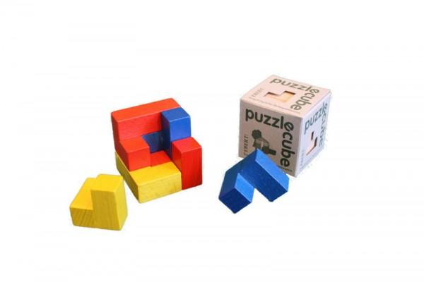 Puzzle cube aus Holz, Spielalter ab 3 Jahre, Erzgebirgische Holzspielwaren Ebert GmbH Olbernhau/ Erzgebirge