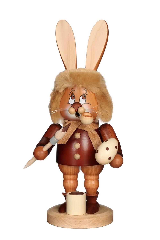 Räuchermännchen Wichtel Osterhase mit dem niedlichen Gesicht von Christian Ulbricht GmbH & Co KG Seiffen/ Erzgebirge ist 34 cm groß. Der Osterhase muss …