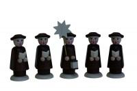 Vorschau: Nestler-Seiffen, Weihnachtsfiguren Kurrende, braun, 5 - teilig_Bild1